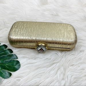 Unbranded Gold Embellished Snap Wallet Clutch